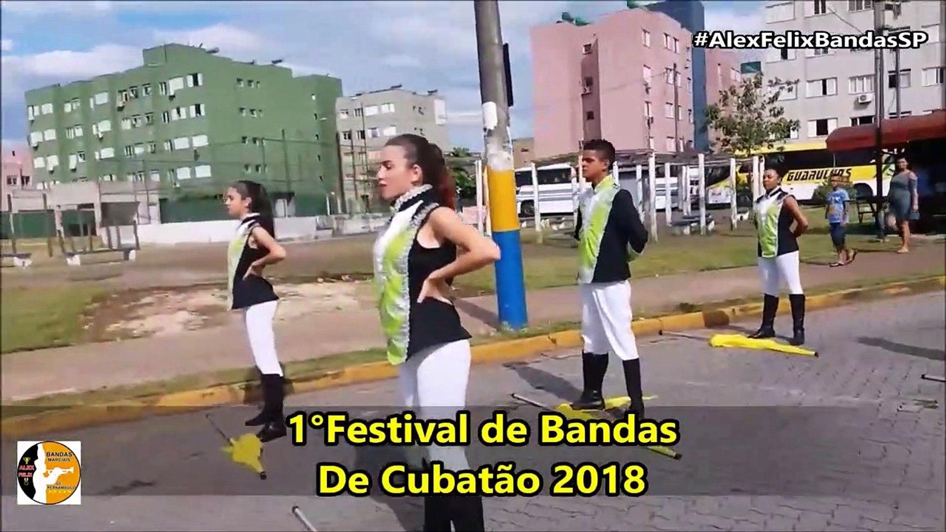 Banda de Percussão Dr Amaury Galliera 2018 - 1° Festival de Bandas - Cubatão - #AlexFelixBandasSP