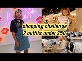 "2 Outfits Under $50 Shopping Challenge at ""6ixty8ight"" Korea 