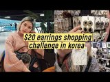 $20 Trendy Earrings Shopping Challenge at Goto Mall Korea | Q2HAN