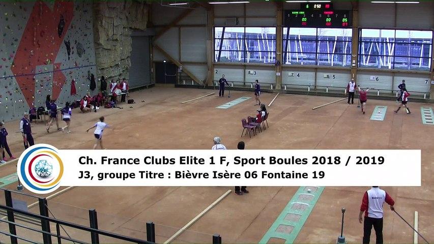 Troisième tour, tir progressif, France Club Elite 1 Féminin, J3 groupe Titre,  Bievre Isère contre Fontaine,  saison 2018/2019