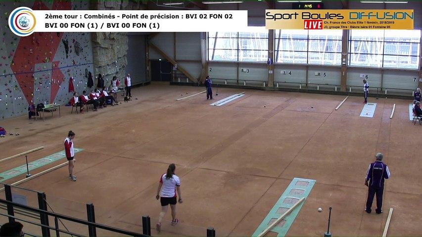 Second tour, point de precision, France Club Elite 1 Féminin, J3 groupe Titre,  Bievre Isère contre Fontaine,  saison 2018/2019