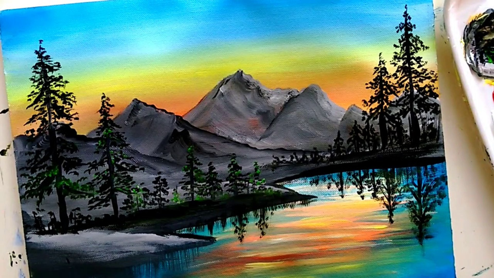 Picturesque Mountain Landscape Painting | Scenery Painting | Acrylic  Painting Tutorial - video Dailymotion