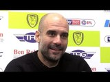 Burton 0-1 Manchester City (Agg 0-10) - Pep Guardiola Full Post Match Press Conference - Carabao Cup