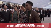 The 25th Annual Screen Actors Guild  Award Winners Are...