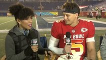 Patrick Mahomes reacts to winning Pro Bowl offensive MVP