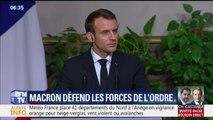 Depuis l'Égypte, Emmanuel Macron apporte son soutien aux forces de l'ordre