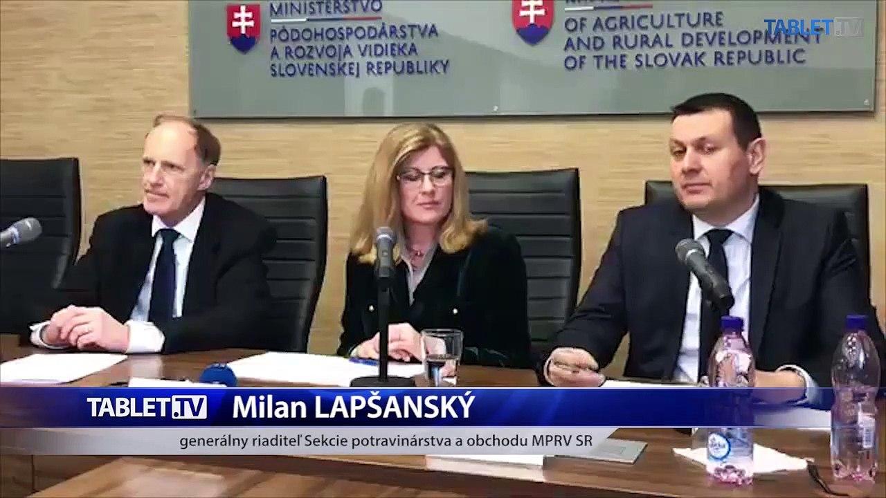 ZÁZNAM: TK Ministerstva pôdohospodárstva a rozvoja vidieka SR