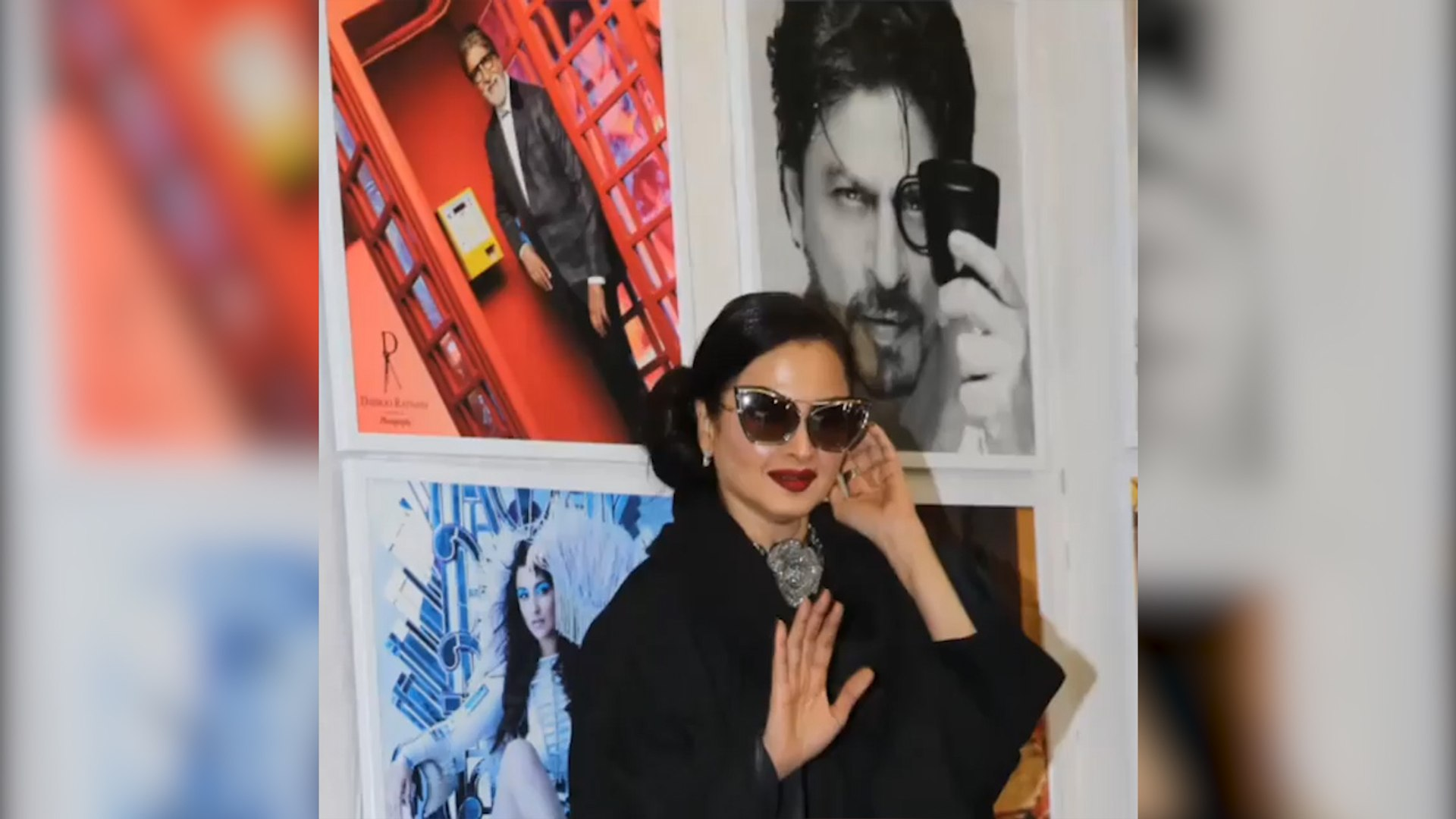 Watch: Rekha's reaction after she poses in front of Amitabh Bachchan's photo