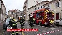 Fuite de gaz rue de Metz Auch 29 janvier 2019