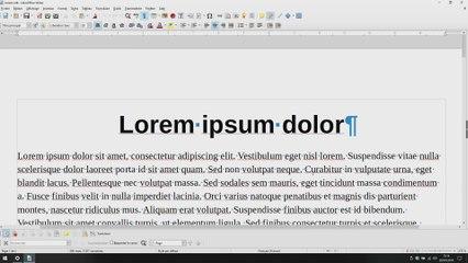 Les options de zoom de LibreOffice Writer