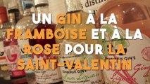 Un gin à la framboise et à la rose pour la Saint-Valentin !