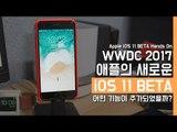 애플의 새로운 iOS 11 BETA 핸즈온. feat. 아이폰7 플러스 (Apple iOS 11 BETA Hands On)
