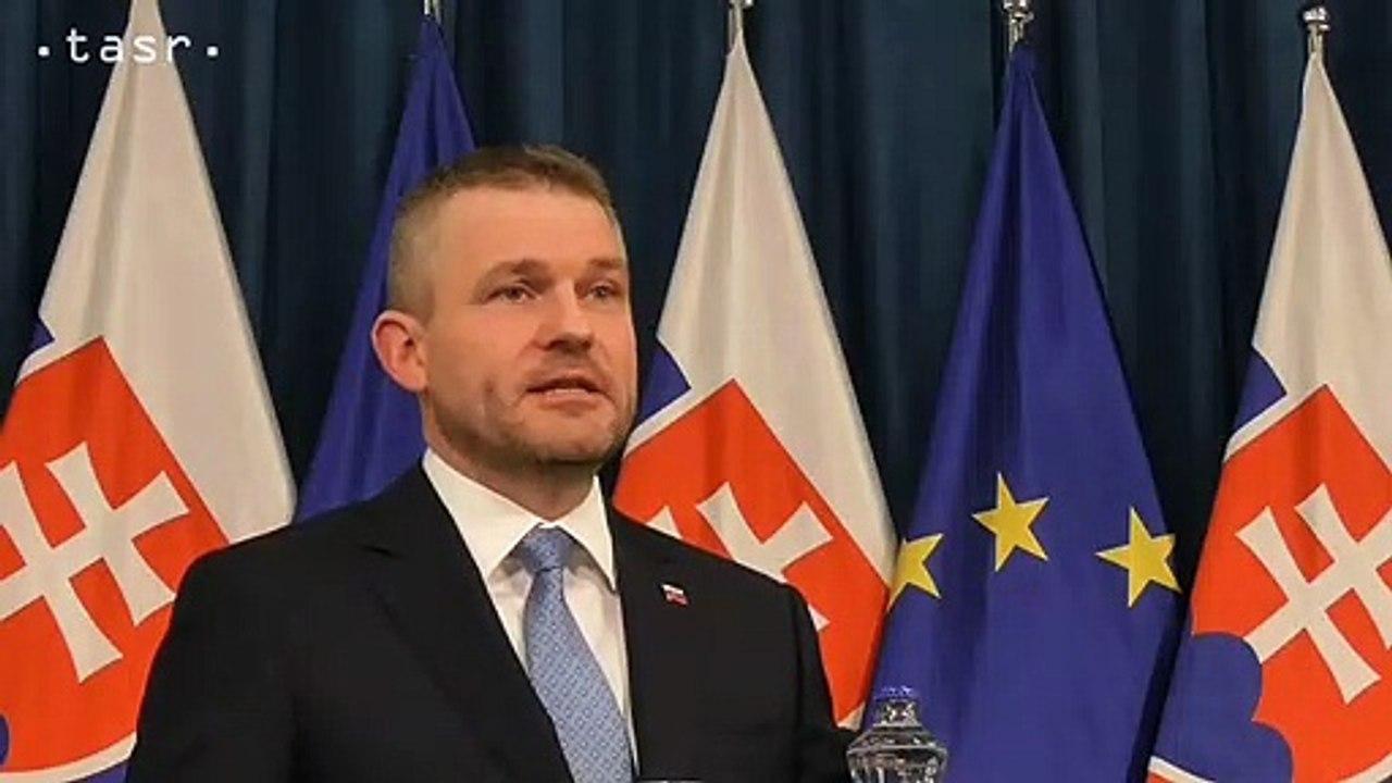 Vyhlásenie predsedu vlády Petra Pellegriniho