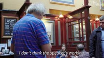 Owen Jones meets Tim Martin: 'Poverty wages? Don't ask childish questions' – video