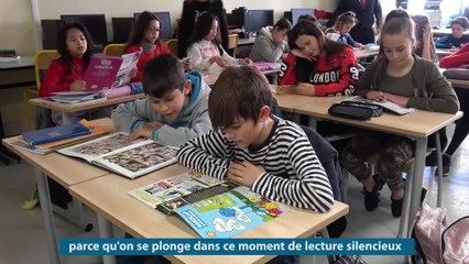 Le recteur participe au quart d'heure de lecture au  collège Emile Roux - Le Cannet