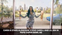 Cardi B, Steve Carell And Lil Jon In Pepsi Super Bowl Ad