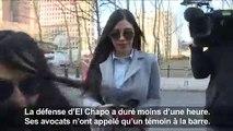 La femme et les avocats d'El Chapo arrivent au tribunal