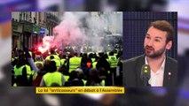 """Gilets jaunes : """"On peut rentrer dans un processus révolutionnaire"""" réagit Ugo Bernalicis"""