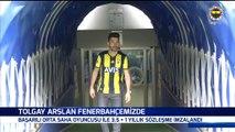 """Tolgay Arslan: """"Fenerbahçe, Türkiye'nin en büyük camiası. Hedefim buraya gelmekti. Beşiktaş'ta eğer iyi bir performans göstermeseydim Fenerbahçe gibi bir kulüp beni bu camiaya layık görmezdi.'' #FBTV 31/01/2019"""