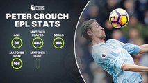 Feature: Peter Crouch's all-time EPL stats as he leaves Stoke for Burnley