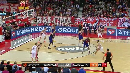 EuroLeague 2018-19 Highlights Regular Season Round 21 video: Olympiacos 55-76 Barcelona