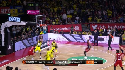 EuroLeague 2018-19 Highlights Regular Season Round 21 video: Bayern 90-86 Fenerbahce