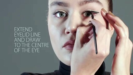drawing on a thick eyelid line