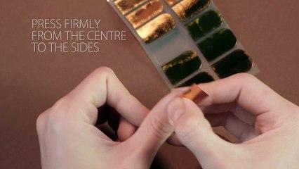 attching nail foils