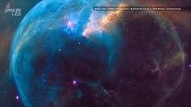 Hubble Spots a Massive Star Blowing a Huge Space Bubble