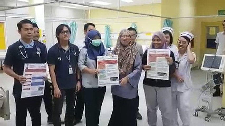 CONGRATULATIONS from the team at Miri Hospital, Malaysia