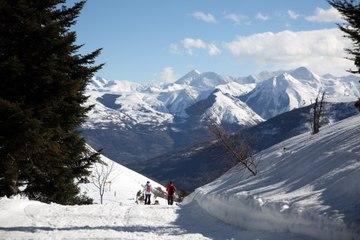 Val d' Azun. L'espace nordique est en piste