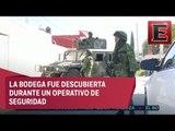 Descubren bodega de huachicoleros en Puebla