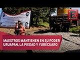CNTE levanta cinco bloqueos en vías férreas en Michoacán