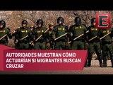 EU realiza simulacro de contención de migrantes en frontera con Chihuahua