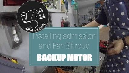 VW Beetle - Backup Motor Rebuild (part 5) - Installing Inlet manifold and fan shroud #vwbeetle #vw