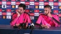 PSG : Gigi Buffon et Alphonse Areola ensemble face à la presse
