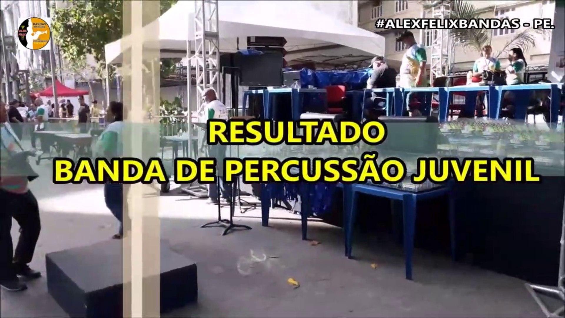 CNBF - 2018 - RESULTADO BANDA DE PERCUSSÃO JUVENIL - XXV-CAMPEONATO NACIONAL DE BANDAS E FANFARRAS