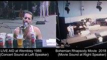 Concert de Queen : film & Live Aid comparés côte à côte - Bohemian Rhapsody