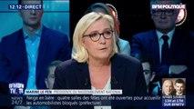 """Marine Le Pen : """"Emmanuel Macron jette les gilets jaunes contre les forces de l'ordre en ne répondant pas aux revendications"""""""