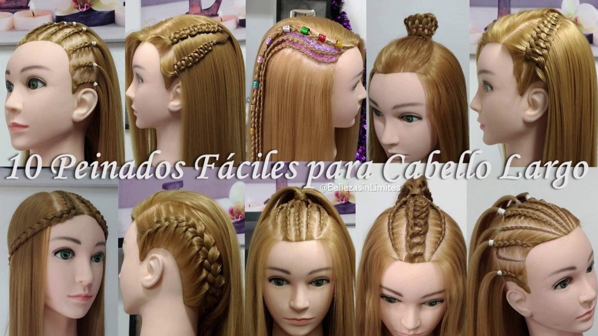10 Peinados Faciles Para Cabello Largo By Belleza Sin Limites