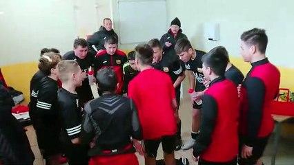 U15: Vent de folie dans le vestaire après la victoire.