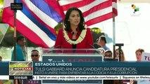 EE.UU: Tulsi Gabbard anuncia su candidatura presidencial