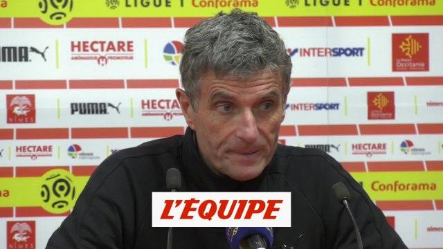 Blaquart «Un résultat logique» - Foot - L1 - Nîmes