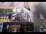 Rajnikanth's 50 feet long cut out at Aurora theatre | Kabali News | RajiniKanth Movie | Radhika Apte