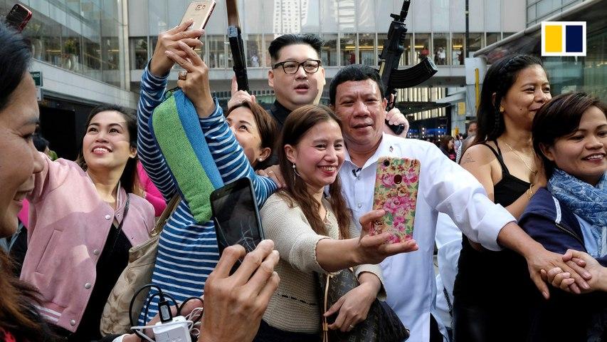 Duterte impersonator's surprise visit causes a stir in Hong Kong