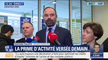 """Édouard Philippe: """"Dès demain, 3,5 millions de foyers dont 700.000 nouveaux vont bénéficier de la prime d'activité"""""""