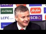 Leicester 0-1 Manchester United - Ole Gunnar Solskjaer Post Match Press Conference - Premier League