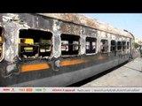 """السيطرة على حريق هائل في قطار """"المناشي"""" بمحطة مصر"""