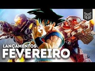 GAMES DE FEVEREIRO/2019: ANTHEM, JUMP FORCE E MAIS
