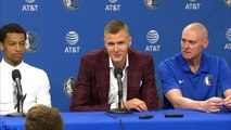 Kristaps Porzingis trains with the Mavs and speaks for first time since trade